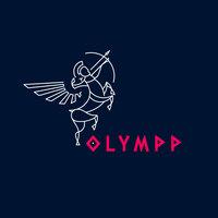 Logo olympp fond bleufonce
