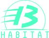 Logo 13habitat bleu